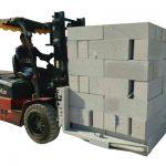 Гидравликалық Forklift бетон кірпіштері / блокты көтеретін қысқыш