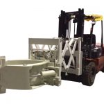 Forklift шиналарын өңдеу қондырғысы телескопиялық шина қысқыштары